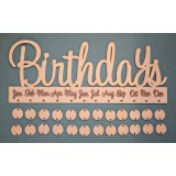 BIRTHDAY (SCRIPT) BOARD - M403