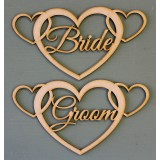 BRIDE AND GROOM CHAIR SIGNS - M601