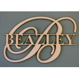 SCRIPT MONOGRAM NAME PLAQUE - M358