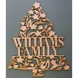 CHRISTMAS TREE MONOGRAM NAME PLAQUE - M359