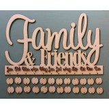 FAMILY AND FRIENDS BIRTHDAY BOARD - M401