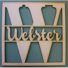 SQUARE MONOGRAM NAME PLAQUE - M360