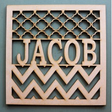 SQUARE CHEVRON NAME MONOGRAM - M372