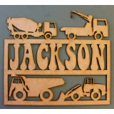 TRUCKS NAME PLAQUE - M339