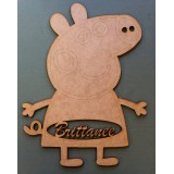 PEPPA PIG NAME PLAQUE - M337