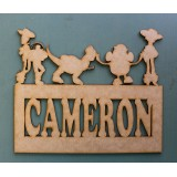 TOY STORY NAME PLAQUE - M347