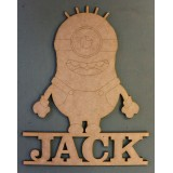 MINION NAME PLAQUE - M348