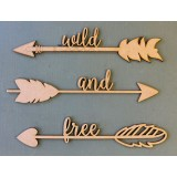 WILD AND FREE ARROW SET - M352