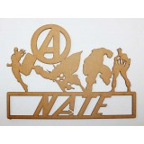 AVENGERS NAME PLAQUE-M304