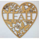 HEART & BUTTERFLY NAME PLAQUE-M311